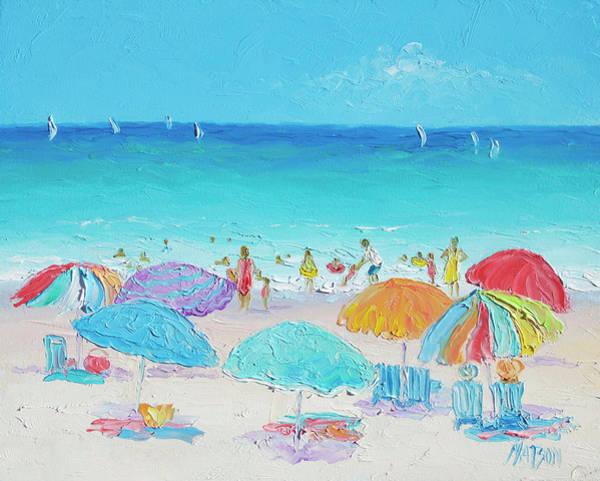 Bradenton Wall Art - Painting - Beach Art - Summer by Jan Matson