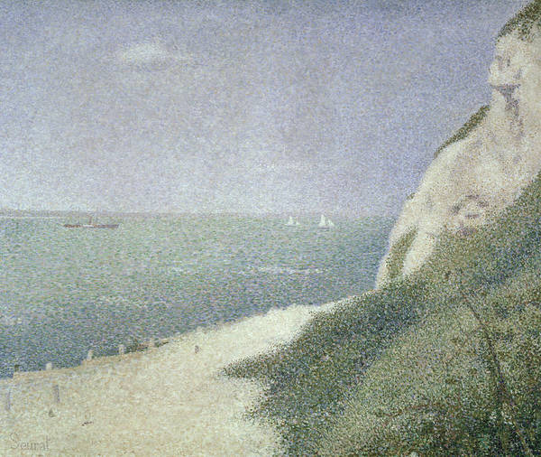 Wall Art - Painting - Beach At Bas Butin by Georges Pierre Seurat