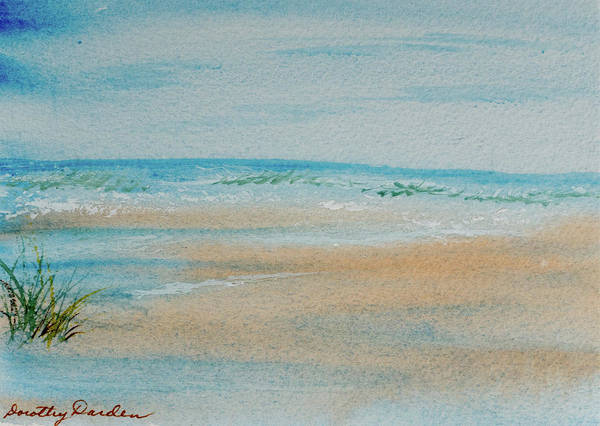 Painting - Beach At High Tide by Dorothy Darden