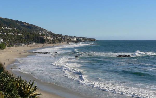 Laguna Beach Painting - Beach At Montage Resort, Laguna Beach, Ca by Verlaine Crawford