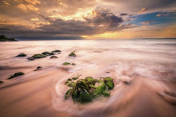 Beach At Paia Art Print