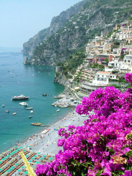 Photograph - Beach At Positano by Donna Corless