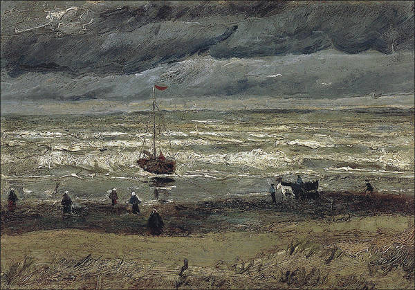 Wall Art - Painting - Beach At Scheveningen In Stormy Weather, 1882 by Vincent Van Gogh