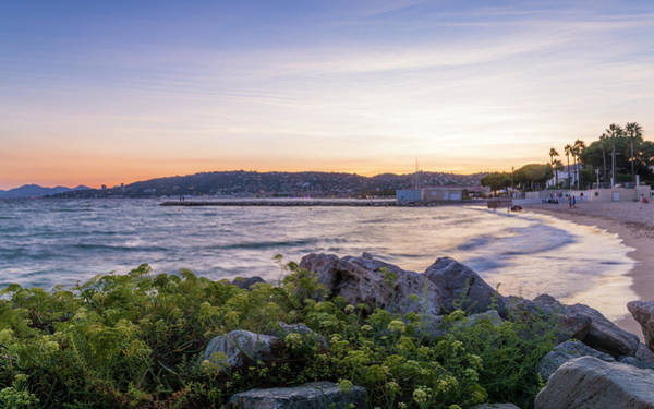 Photograph - Beach At Sunset In Cote D'azur, France by Alexandre Rotenberg