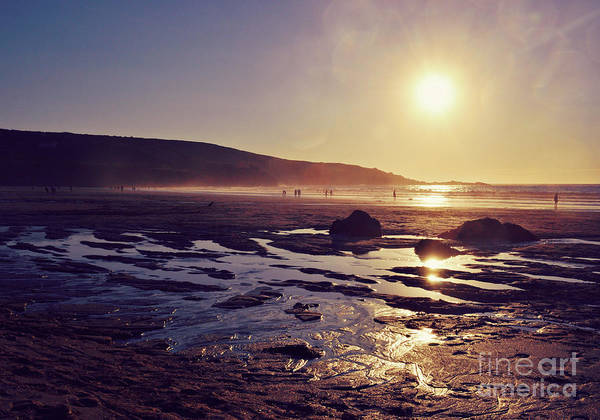 Wall Art - Photograph - Beach At Sunset by Lyn Randle