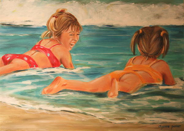 Beach Babies Art Print by Dyanne Parker