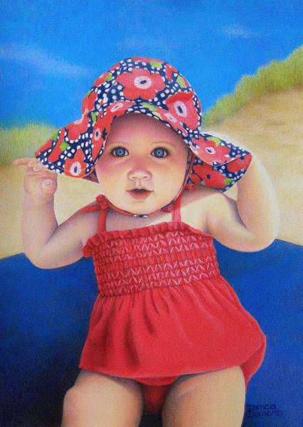 Drawing - Beach Baby by Pamela Clements