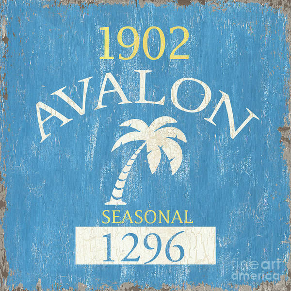 Signs Painting - Beach Badge Avalon by Debbie DeWitt