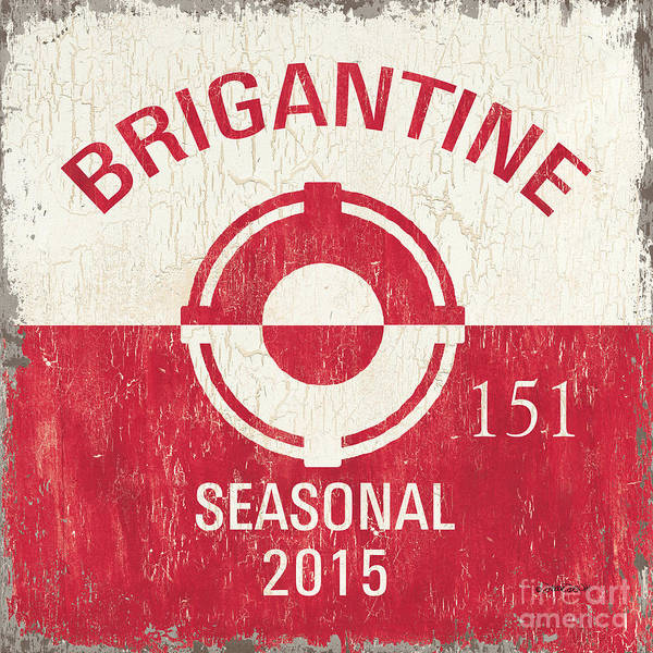 Wall Art - Painting - Beach Badge Brigantine by Debbie DeWitt