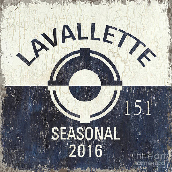 Destination Wall Art - Painting - Beach Badge Lavalette by Debbie DeWitt
