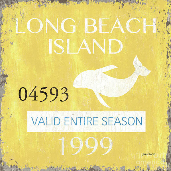 New Age Wall Art - Painting - Beach Badge Long Beach Island 2 by Debbie DeWitt