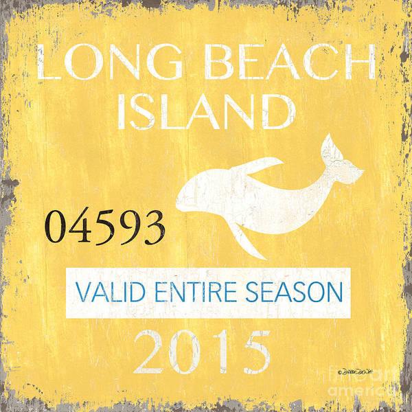 Beach Painting - Beach Badge Long Beach Island by Debbie DeWitt
