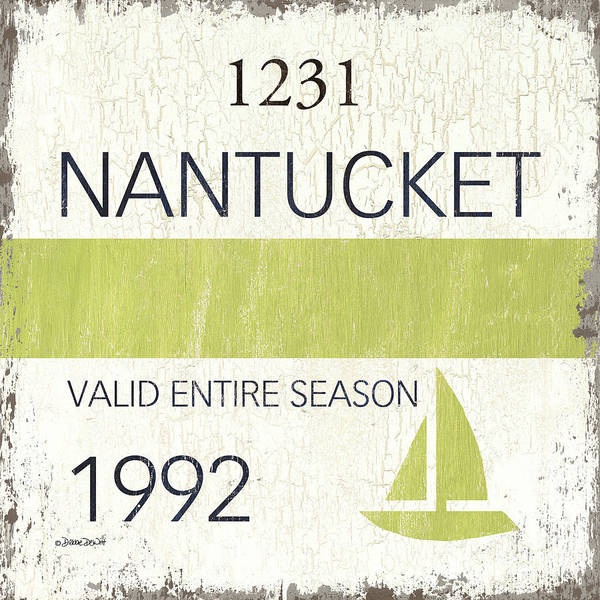 Wall Art - Painting - Beach Badge Nantucket by Debbie DeWitt