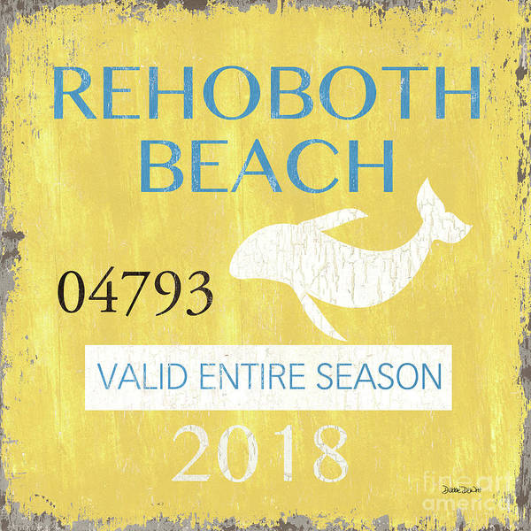 Wall Art - Painting - Beach Badge Rehoboth Beach by Debbie DeWitt