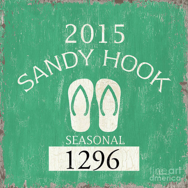 Wall Art - Painting - Beach Badge Sandy Hook by Debbie DeWitt