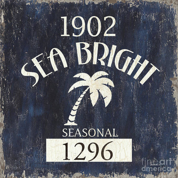 Signs Painting - Beach Badge Sea Bright by Debbie DeWitt