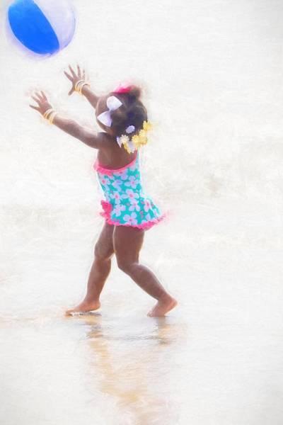Photograph - Beach Ball Blue by Alice Gipson