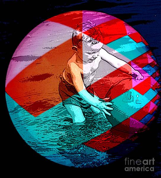 Swimming Pool Mixed Media - Beach Ball Fun by Tammera Malicki-Wong