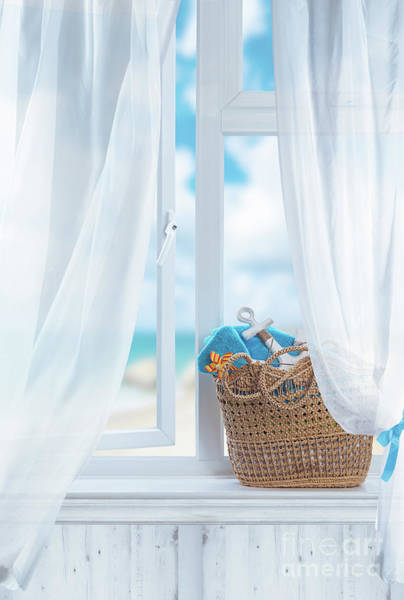 Wall Art - Photograph - Beach Basket Still Life by Amanda Elwell