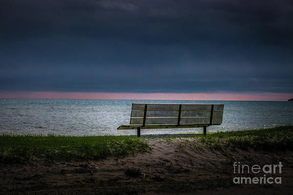 Photograph - Beach Bench by Roger Monahan