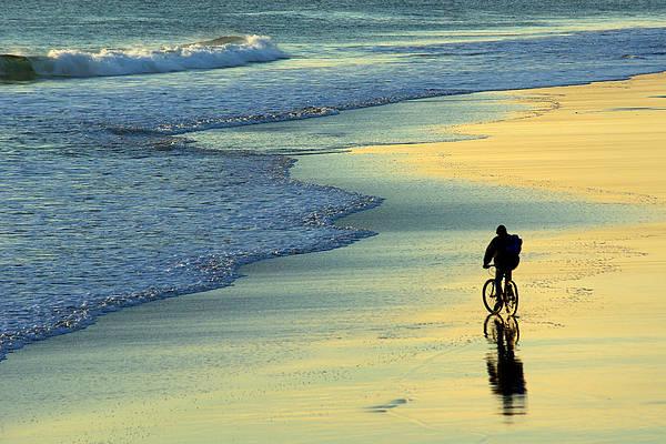 Fit Photograph - Beach Biker by Carlos Caetano