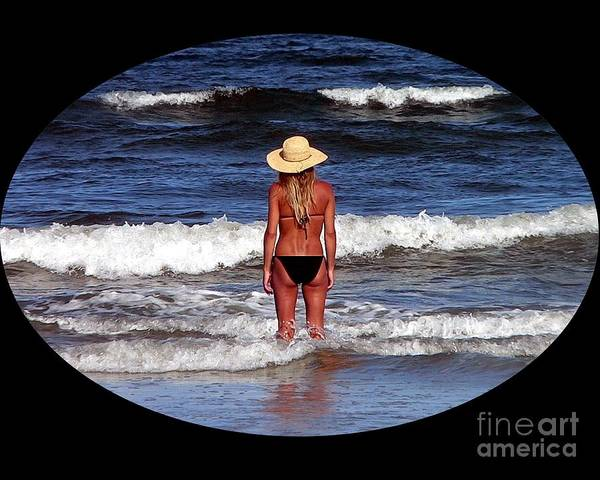 Sunbather Wall Art - Photograph - Beach Blonde .png by Al Powell Photography USA