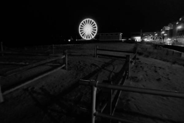 Beach Boardwalk Amusement Art Print