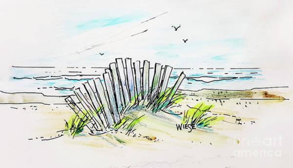 Oregon Coast Mixed Media - Beach Breezes Sketch by Marilynn Wiese