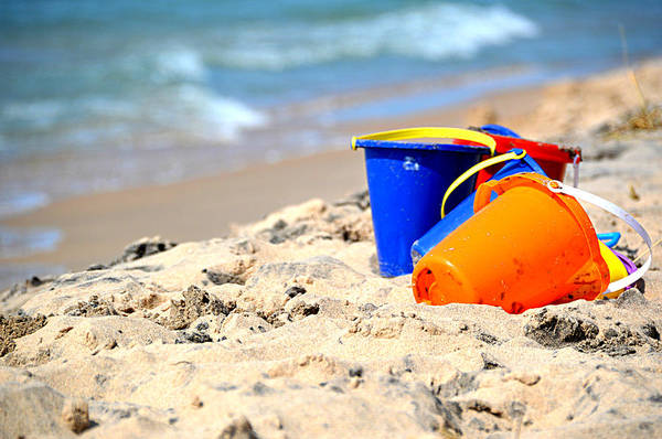 Photograph - Beach Buckets by SimplyCMB