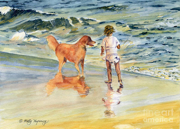 People Watching Painting - Beach Buddies by Melly Terpening