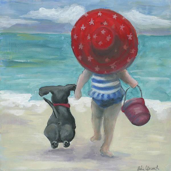 Wall Art - Painting - Beach Buddies by Robin Wiesneth
