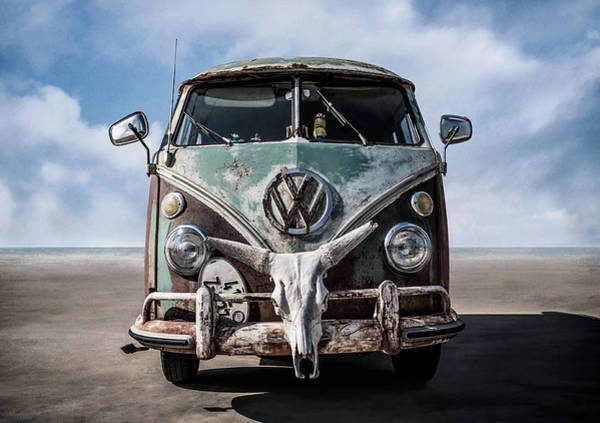 Volkswagen Wall Art - Digital Art - Beach Bum by Douglas Pittman