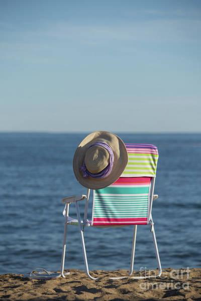 Flip Flops Photograph - Beach Chair Chalker Beach Old Saybrook Connecticut  by Edward Fielding