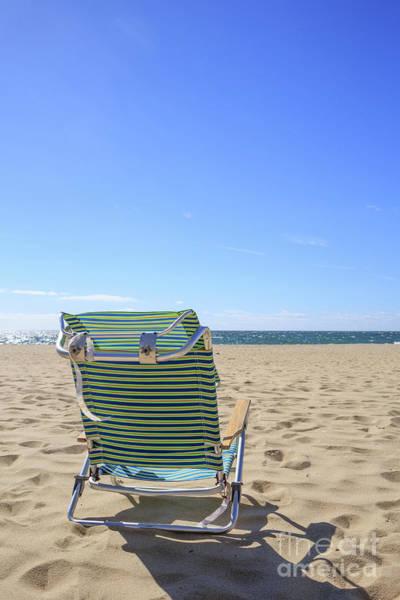 Photograph - Beach Chair On A Sandy Beach by Edward Fielding