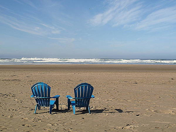 Photograph - Beach Chair Pair by Suzy Piatt