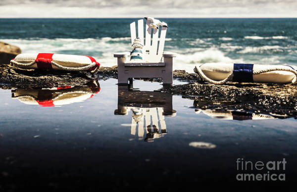 Decor Photograph - Beach Chairs And Rock Pools by Jorgo Photography - Wall Art Gallery