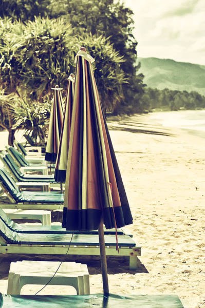Photograph - Beach Chairs And Umbrellas by Georgia Fowler