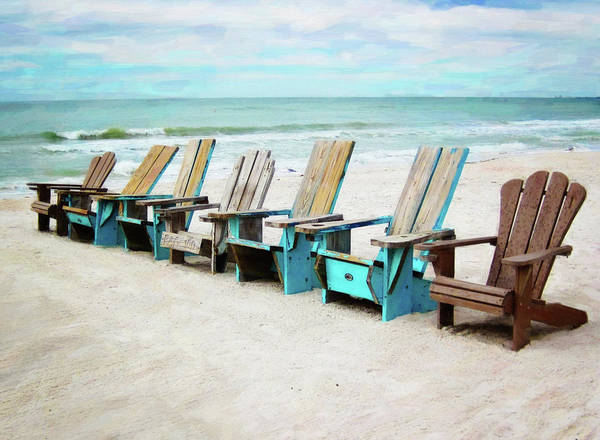 Photograph - Beach Chairs by Sue Collura