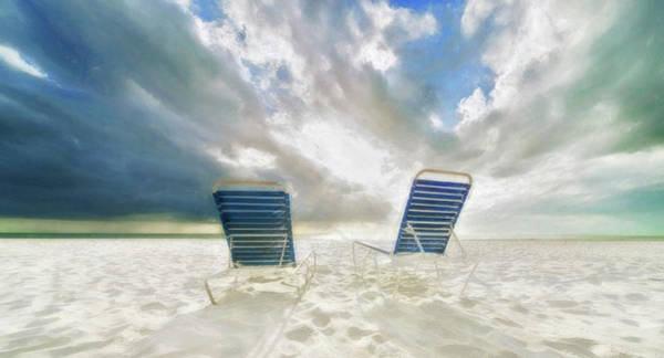 All Together Photograph - Beach Chairs by Vicki Jauron