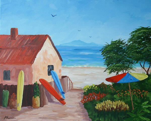 Laguna Beach Painting - Beach Colors by Bob Phillips