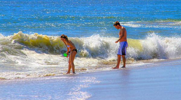 Photograph - Beach Couple At The Seashore by Bonnie Follett