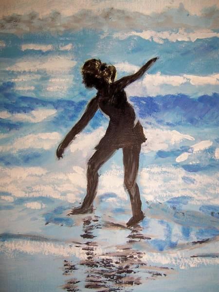 Beach Dancer Art Print by Ann Whitfield