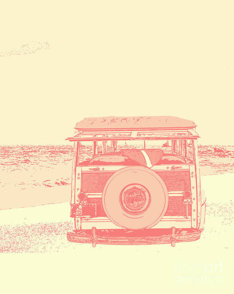 Ford Van Photograph - Beach Days by Emily Kay