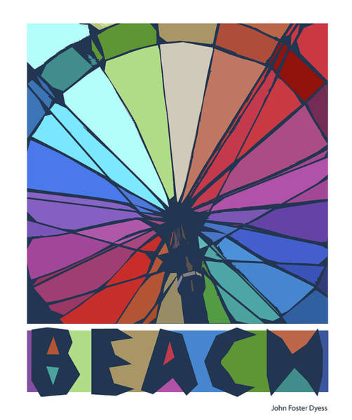 Beach Design By John Foster Dyess Art Print