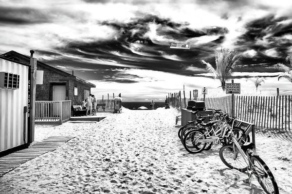 Photograph - Beach Entry Bikes Infrared At Long Beach Island by John Rizzuto