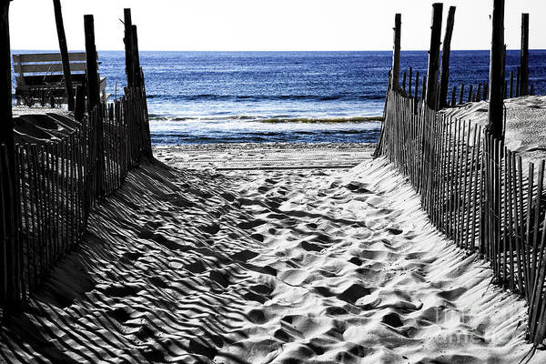 Down The Shore Photograph - Beach Entry Fusion by John Rizzuto