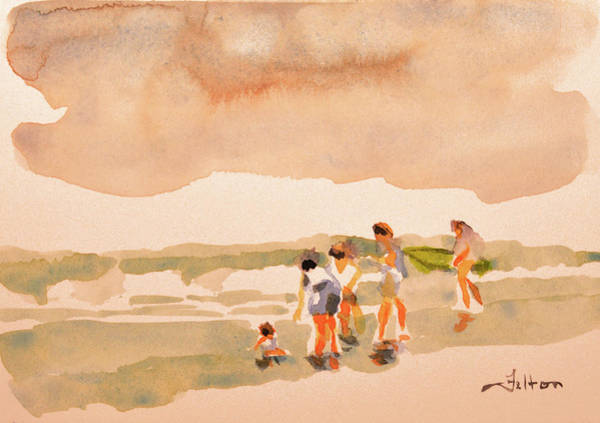 Painting - Beach Family Day by Julianne Felton