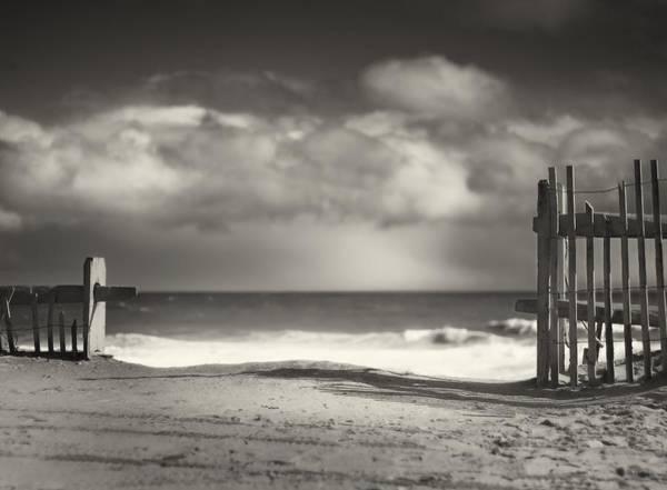 Cape Cod Photograph - Beach Fence - Wellfleet Cape Cod by Dapixara Art