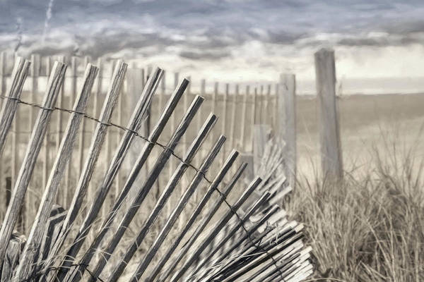 Rehoboth Beach Photograph - Beach Fence by Lori Deiter