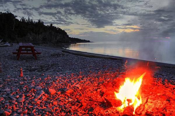 Photograph - Beach Fire by David Matthews
